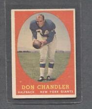1958 Topps Football #54 Don Chandler (Giants)  Vg-Ex  (Flat Rate Ship)