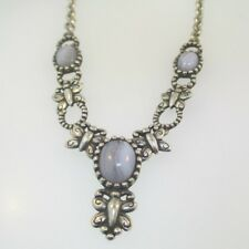 Sterling Silver Carolyn Pollack Butterfly Blue Lace Agate Necklace