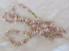 "Genuine Natural Multicolor Freshwater Cultured Pearl Necklace 30"" Estate"