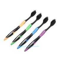 4Pcs Bamboo Charcoal Toothbrush Oral Dental Care Soft Nano Bristle Teeth Brush