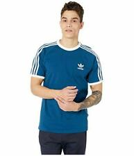 adidas Originals Men's 3-Stripes Tee (Blue, 2XL)