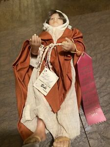 """Vintage 14"""" Wax Doll  wax arms and legs"""