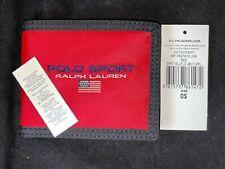 BNWT POLO SPORT RALPH LAUREN Red, Nylon, Bifold Wallet. Gift Idea.
