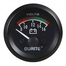 """Land Rover Series 1 2a 3 Dash Panel 2"""" Auxiliary Voltmeter Illuminated Gauge"""