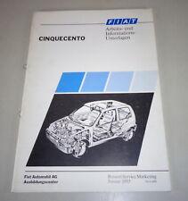 Schulungsunterlage Fiat Cinquecento de 01/1993