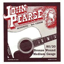 John Pearse 300M 80/20 Bronze 13-56 Medium Acoustic Guitar Strings New
