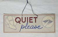 """VTG """"Quiet Please"""" """"No Visitors"""" Double Sided Cardstock Store Sign Will Ross"""