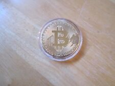 Gold Plated Bitcoin Commemorative Coin/Medal Collector's Round