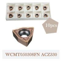 Wendeschneidplatten Wendeplatten für Drehwerkzeug Drehmeißel WCMT050308FN ACZ330