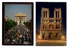 Paris: 2 Postcards (Lot 5)