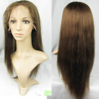 "Straight Hair Wig 8""-20"" Front/Full Lace Wigs 100% Remy Indian Human Hair #4"