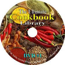 619 Vintage Books on DVD, Cookbook Library, Recipes Cook Bake How to Cooking