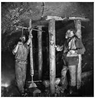 PHOTO 11 MINING SCENE INSIDE  OF CANNOCK CHASE COAL MINE STAFFORDSHIRE c1890