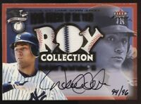 2001 Fleer Focus Derek Jeter ROY Collection Jersey Patch Auto 94/96