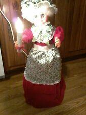 vintage Christmas Telco Mrs. Claus  Motionette ,porcelite,animated illuminated