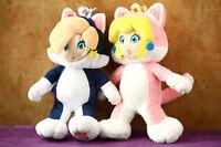 2X Super Mario Bros. 19cm Cat Rosalina & Peach Princess Stuffed Animal Plush Toy
