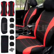 New 9Pcs/Set Car Seat Covers Front&Rear Seat Back Head Rest Protector Universal