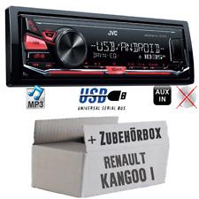 JVC KFZ Radio für Renault Kangoo 1 Autoradio Android Auto Set 4x50Watt MP3 USB