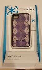 Speck Products Fitted Hard Case with Fabric for iPhone 4/4S - Purple Argyle