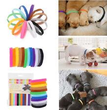 12pcs Adjustable Reusable Newborn Puppy Kitten ID Collar Bands For  Breeders