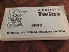 Vintage 1968 Minnesota Twins Major League Baseball Team Record Book