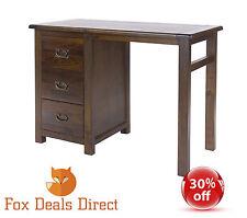 Dressing Table Dark Wood Boston Range 3 Drawer Bedroom Furniture save 30%