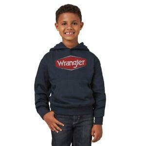Boy's Wrangler® Logo Navy Hoodie BH4308N