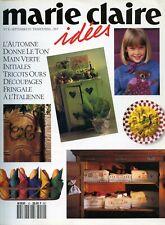 Revue comme NEUVE  Marie Claire Idées  n°10 SEPTEMBRE  1993