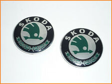 2 X SKODA BADGE/ EMBLEM DIAMETER 80mm FABIA OCTAVIA RAPID ROOMSTER 1U0853621C
