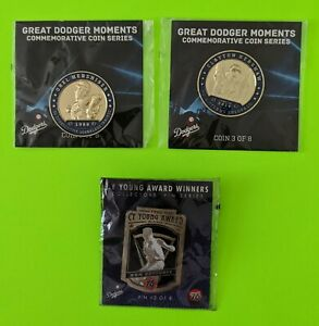 LA Dodgers  Coins Kershaw & hershiser and Drysdale