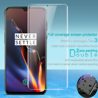 For OnePlus 7 Pro 6T Hydrogel Soft Film Full Cover Front Back Screen Protector