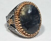 Türkei Natural Sapphire Edelstein 925 Sterling Silber Männer Ring
