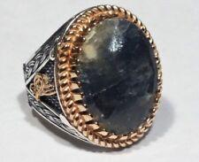 Turkish Natural Sapphire Gemstone 925 Sterling Silver Men Ring