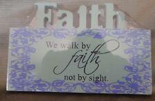 Wood Plaque Home Decoration- Faith Themed.