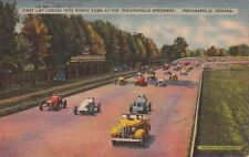 Postcard First Lap North Indianapolis Speedway In