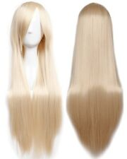 60/80/100cm Cosplay Party Wig Long Straight Curly Wavy Fashion Costume Full Wigs