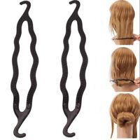 2X Women Magic Hair Twist Styling Clip Stick Bun Maker Braid Tool Hair Accessory