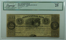 1835 25 Shillings Agricultural Bank Montreal Canada Obsolete Note Legacy Vf-25