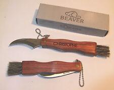 COUTEAU CHAMPIGNONS Couteau de poche avec GRAVURE d'un prénom