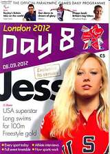 PARALYMPIC GAMES DAY 8 EIGHT DAILY PROGRAMME LONDON 2012