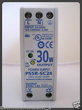 IDEC PS5R-SC24 Power Supply 100-240VAC 0.9A  24VDC 1.3A 30W  Automation