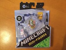 (2) Minecraft Mini-Figures 3-Pack Ice 5 Series - DPY67 - Rabbit Zombie Alex Gold