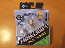 Minecraft Mini-Figures 3-Pack Ice 5 Series - DPY67 - Rabbit Zombie Alex Gold