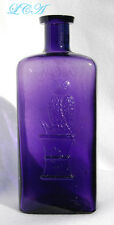 LARGE old TRANSLUCENT PURPLE antique OWL DRUG Co bottle 16 ounce - FULL PINT