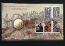2008 Australia One Dollar Pnc 90th Anniversary of The End of World War 1 Cache