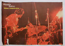 Vintage 70's CREEDENCE CLEARWATER REVIVAL Poster PT Music Magazine MUSICAlíssimo