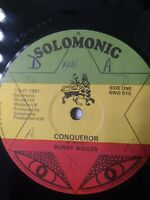 "Bunny Wailer-Conqueror 12"" Vinyl Single 1981 UK COPY"