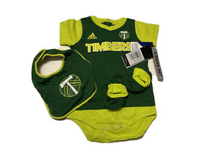 Adidas - Portland Timbers Youth 3 Piece Set Soccer NWT 12M Toddler