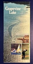 Grapevine Texas 1977 Map Fold Out Brochure Grapevine Lake Us Army Corps Engineer