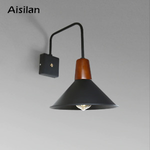 Aisilan Nordic Wall Lamp Modern Style Wall Light Adjustable Black For Bed Room F